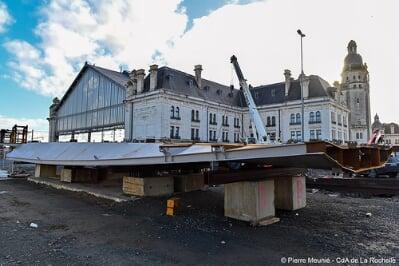 Avancement des travaux de La passerelle de la gare de La Rochelle