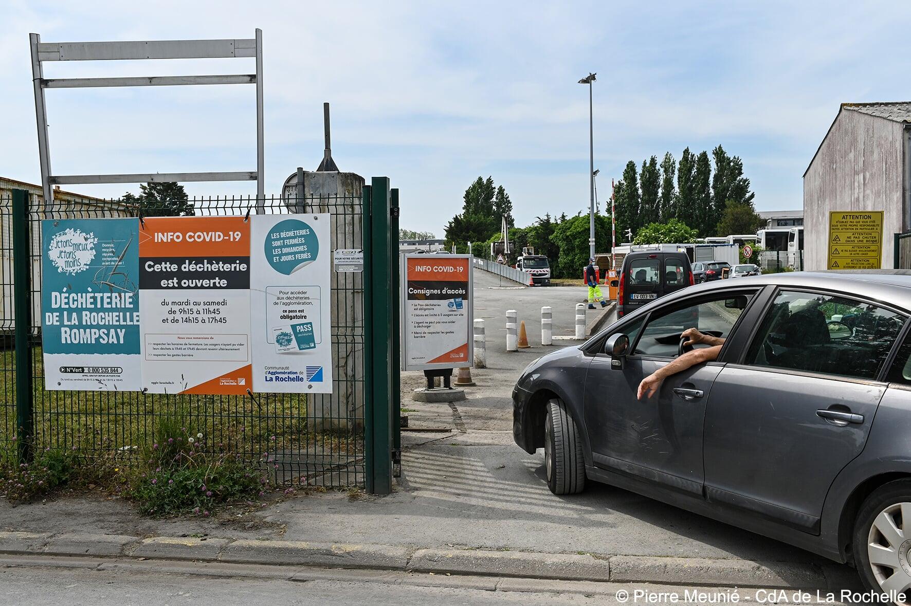 Réouverture de la déchèterie La Rochelle Rompsay