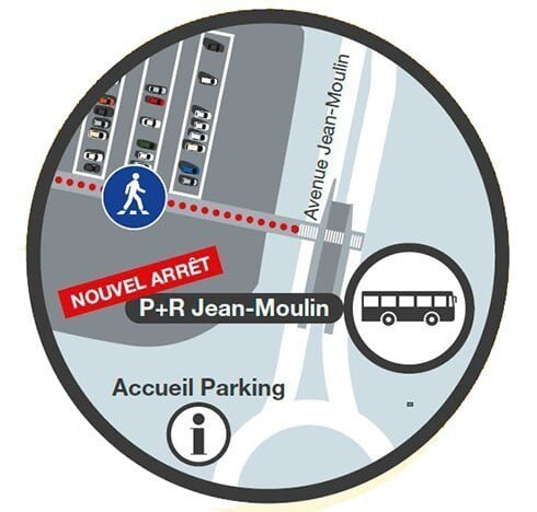 Un nouvel arrêt de bus avenue Jean Moulin